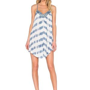 AMUSE SOCIETY Sass Dress in Indy blue tie XS